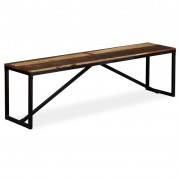 vidaXL Banco em madeira recuperada maciça 160x35x45 cm