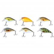 Proberos 6pcs 6 Color Pesca Crankbait Gancho Cebo Señuelo-Multicolor