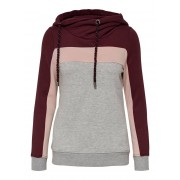 ONLY Contrasterend Sweatshirt Dames Bruin / Female / Bruin / M