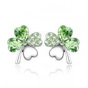 Zöld kristályos szerencse fülbevaló