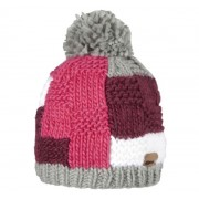 Quilt Beanie z pomponem (szara, dark heather)