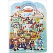 Детска книжка със стикери - Пиратски кораб - 19102 Melissa & Doug, 000772191029