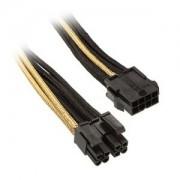 Cablu prelungitor Silverstone 8-pini EPS la 8-pini (4+4) EPS12V, 30cm, Black/Gold, PP07-EPS8BG