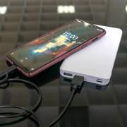 4smarts Power Bank VoltHub Lite 10000 mAh - външна батерия с два USB и USB-C изходи (тъмносив)