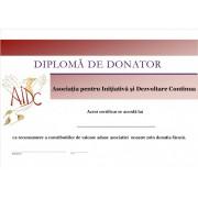 Diploma donator