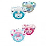 NUK Classic Happy Days Silicone Soother 2 pack - Size 2 (6 - 18 months)