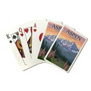 Aspen, Colorado Bear And Spring Flowers (Playing Card Deck 52 Card Poker Size With Jokers)
