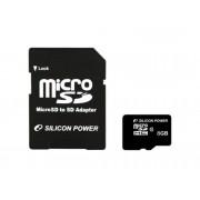 SILICON POWER Tarjeta de memoria SDHC con Adaptador SILICON POWER CL10 8GB