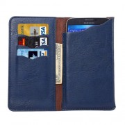 4.3 - 4.8 Inch Universal Elephant Texture Carry Cases with Wallet & Card Slots for iPhone 6 & 6s Sony Xperia Z5 Compact Nokia Lumia 1020(Blue)