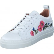 Pieces Paulina Leather Flower White, Skor, Sneakers & Sportskor, Sneakers, Vit, Dam, 36