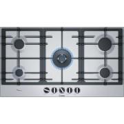 Bosch Serie 6 PCR9A5B90 Ingebouwd Gaskookplaat Zwart, Roestvrijstaal kookplaat