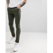 ASOS DESIGN Зеленые супероблегающие джинсы ASOS DESIGN - Зеленый