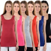 NumBrave Maroon Pink Grey Red Blue Black Tank Tops Combo