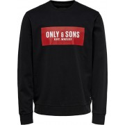 ONLY&SONS Hanorac pentru bărbați ONSNORMIE REG CREW NECK SWEAT Black XL