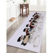 Rosegal Tapis de Bain Antidérapant Motif Bonhommes de Neige de Noël Largeur 16 pouces*Longueur 47 pouces