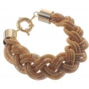 Armband metaal 20cm lengte(gevlochten), goud kleur