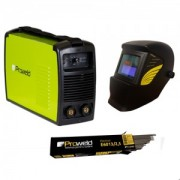 Pachet MMA-160PI + 5kg electrozi de 3,2, E6013 + masca automata YLM3200