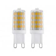 SET 2x Bec LED G9/3W/230V 4000K - Eglo 11675