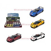 New DIECAST Toys CAR KINSMART 1:38 Display Pagani Huayra BC Livery Edition Set of 4 KT5400DF Without Retail Box
