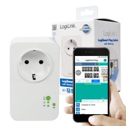 Tomada Logilink Schuko Wifi com medição de consumo