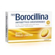 Alfasigma Spa Neoborocillina Ant Or 6,4 Mg + 52 Mg Pastiglie Gusto Limone, 16 Pastiglie In Blister Al/Pvc