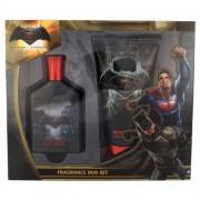 DC Comics Batman v Superman dárková kazeta pro děti toaletní voda 75 ml + sprchový gel 150 ml