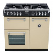 Stoves Richmond 900DFT Champagne 90cm Dual Fuel Range Cooker - Cream