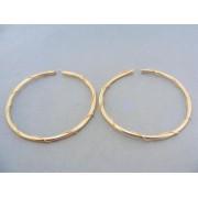 Zlaté náušnice veľké kruhy žlté zlato točený vzor dookola VA813Z