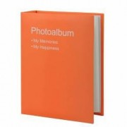 Album foto Conception format 10X15 100 poze tip carte piele ecologica portocaliu