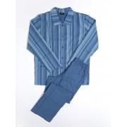 Hom Легкая мужская пижама из тонкого хлопка синего цвета в полоску HOM Click 04272cB9