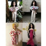 Alcoa Prime 4pcs Various Handmade Doll Clothes Stylish Outfit for Barbie Dolls Dress Up
