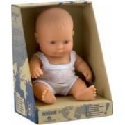 Papusa Baby european fata Miniland 21cm