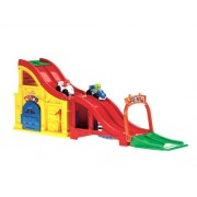Fisher-Price Little People Wheelies Rev n Sounds Race Track Toy | W8607