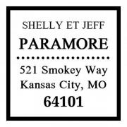 Trodat Tampon monogramme carré - Adresse classique avec encadrement
