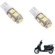 Auto Addict Scooty T10 9 SMD Headlight LED Bulb for Headlights Parking Light Number Plate Light Indicator Light For Honda Activa 125