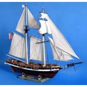 Handcrafted Model Ships B1603 Baltimore Clipper Harvey 32 In. Decorative Tall Model Ship