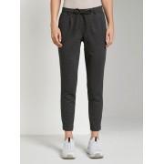 TOM TAILOR Geruite broek in enkellengte, Dames, black grey small check, 42/32