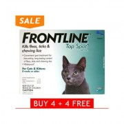Frontline Top Spot Cats (Green) 4 + 4 Free