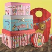 Circus -Speelgoed Opbergdoos 3-in-1