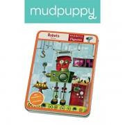 Mudpuppy Układanka magnetyczna roboty - magnetyczne konstrukcje do układania 6 lat +, MP21397