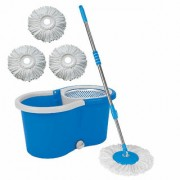 Universal Cleaning Blue Spin Mop With Bucket(4 Refill)