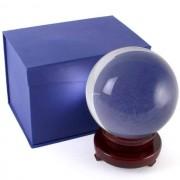 Kristallen Bol met Houten Standaard (15 cm)
