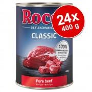 Rocco Ekonomipack: Rocco Classic 24 x 400 g hundfoder - Blandpack: Rent ntktt, Kyckling, Lax, Renktt