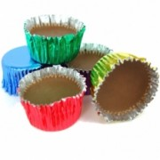 Hannahs Chocolate Flavour Icy Cups Retro Foiled Choc Sweets