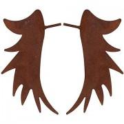 Braun Rost-Engelsflügel aus Metall, braun, 25 cm, 1 Paar