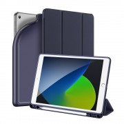 DUX DUCIS OSOM Series Tri-fold Stand Leather Tablet Cover with Pen Holder for iPad 10.2 (2019) - Blue