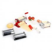 Siena Rossa Pasta Maker Máquina Para Fazer Massa Fresca 3 Acessórios Vermelho