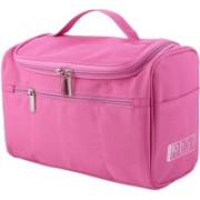 Peryfairy Women's Toiletry Organizer Bag For Cosmetics and Makeup Storage With High Quality Polyester Material and Multifunctional Hanging Tools Travel Toiletry Kit(Pink)