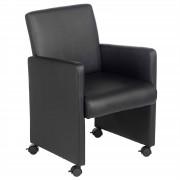 IDIMEX Sessel ANTONIA auf Rollen in schwarz