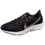 Nike Air Zoom Pegasus 36 Zapatillas de running para mujer, Negro/Metálico Gold-University Rojo-Blanco, 7 US